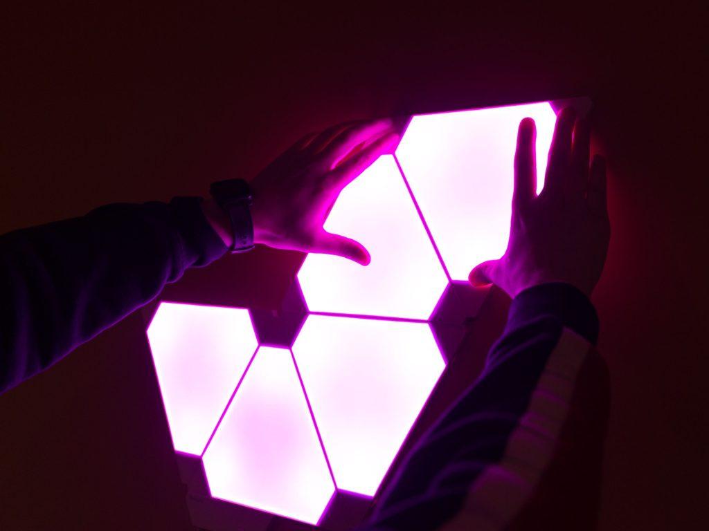 nanoleaf aurora italia lampade LED