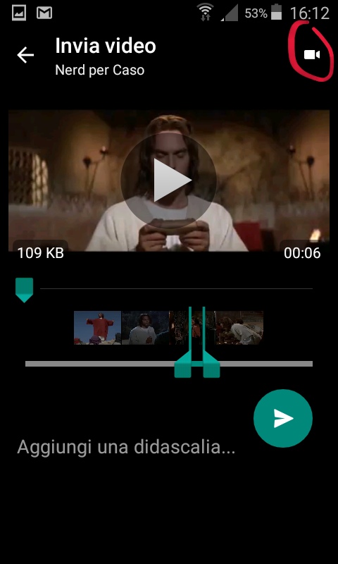 gif animate su whatsapp