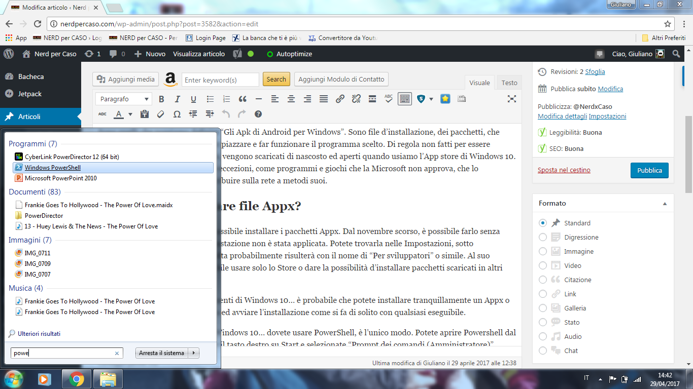 installare file appx