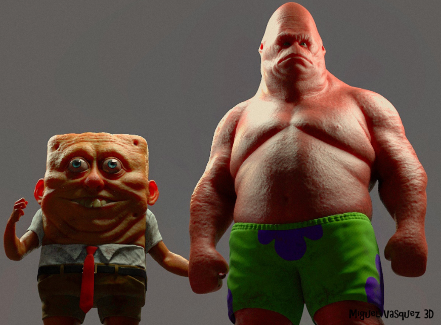 spongebok e patrick stella reale
