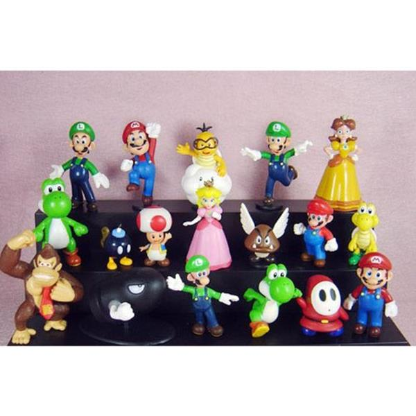 Gadget Super Mario Bros: Set 18 personaggi